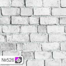 Фотофон Широкий светло-серый кирпич