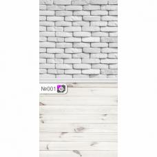 Фотофон Серый кирпич и светлые доски