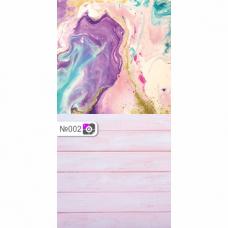Фотофон Разноцветная стена и розовые доски