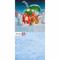 Фотофон Сказочный домик и снег