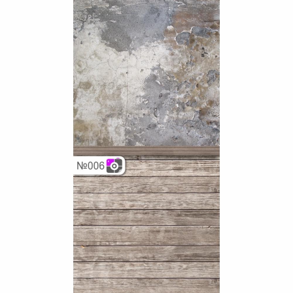 Фотофон Старая серая стена и светло-серые доски