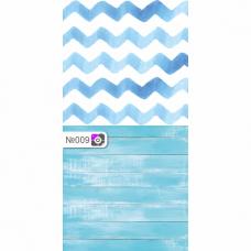 Фотофон Бело-голубые обои и потертые серые доски