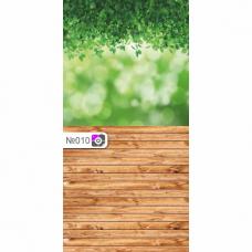 Фотофон Растения и коричневые доски