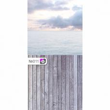 Фотофон Море и серые доски