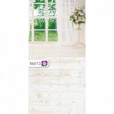 Фотофон Окно со шторами и белые доски