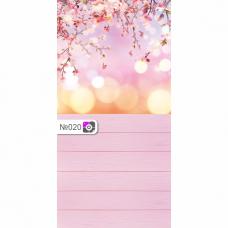 Фотофон Розовые цветы и розовые доски