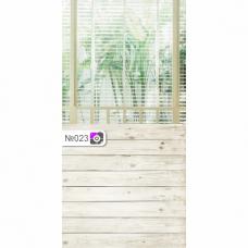 Фотофон Растения за окном и белые доски