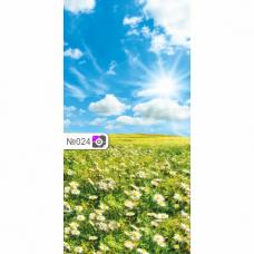 Фотофон Голубое небо и цветочное поле