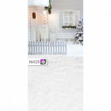Фотофон Дом в новый год и снег
