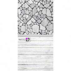 Фотофон Серый камень и серые доски