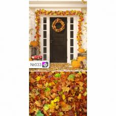 Фотофон Дверь в дом и осенняя листва