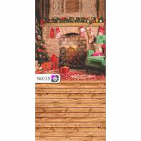 Фотофон Рождество и коричневые доски