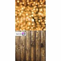 Фотофон Золотые блики и коричневые доски