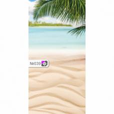 Фотофон Море пальмы и песок