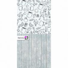 Фотофон Школьная тетрадь и серые доски
