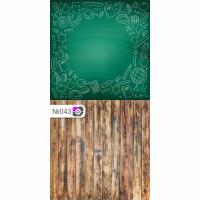 Фотофон Зеленая школьная доска и коричневые доски