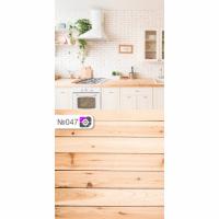 Фотофон Кухня и коричневые доски