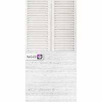Фотофон Белые жалюзи и светло-серые доски