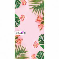 Фотофон Цветы на розовом фоне