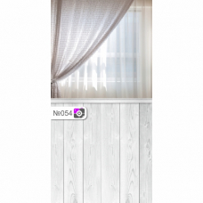 Фотофон Окно со шторами и серые доски