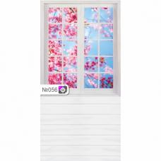 Фотофон Цветы за окном и белые доски